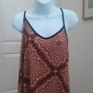 Beautiful blue and orange Paisley tank